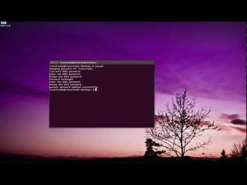 Change Password in UBUNTU through Command Line this works in all Linux versions