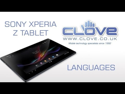 Sony Xperia Z 4G Tablet Languages