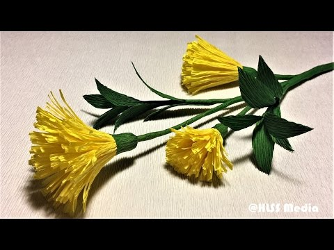 How to make yellow paper flowers flower making of crepe paper diy origami paper flower making with crepe paperbeautiful paper flower decorate step by step mightylinksfo