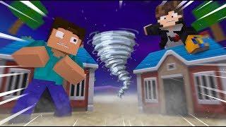 Minecraft: DESAFIO DA BASE 100% SEGURA CONTRA MEGA TORNADO ‹ JUAUM ›