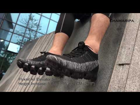 CHAMARIPA Flyknit Elevator Sneaker Hidden High Heel Shoes Make Men Taller