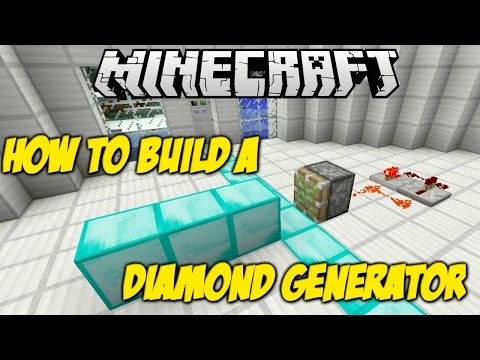 Minecraft How To's : How to build a DIAMOND GENERATOR!