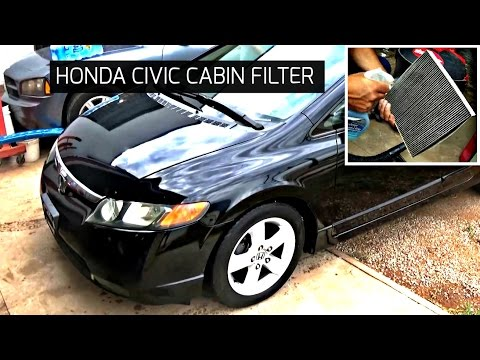 Honda Civic Cabin Air Filter Replacement and Location 2006 2007 2008 2009 2010 2011