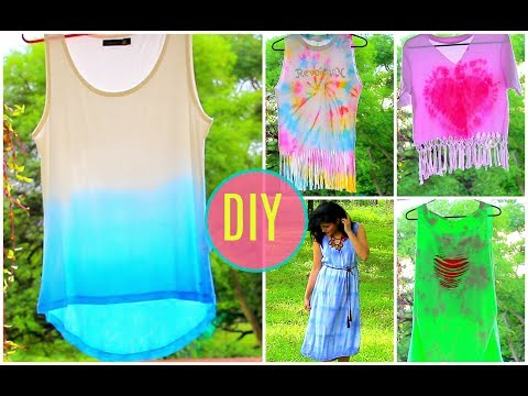 How to Tie Dye Clothes at home/ DIY Clothes