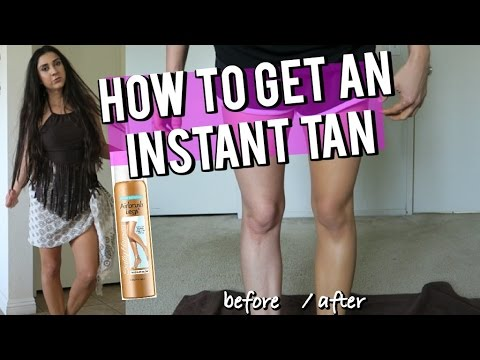 How to TAN INSTANTLY!! Before and After