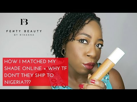 How I Matched My Fenty Beauty Foundation Shade ONLINE 😍 | 430 Demo | WTF No Shipping To Nigeria??