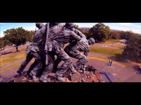 ARLINGTON CEMETERY IWO JIMA WAR MEMORIAL  ARLINGTON VIRGINIA 5D MIII GO PRO DJI PHANTOM FILMCONVERT