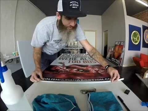 Vinyl Sign Mounting (Instructional Video)