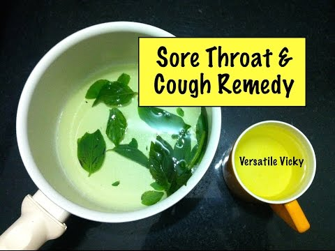 How to Cure a Sore Throat / Sore Throat Remedy / Cough Remedy / Home Remedy for Sore Throat