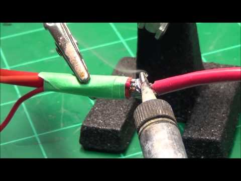 How to Solder Two Small Wires to a Larger Wire