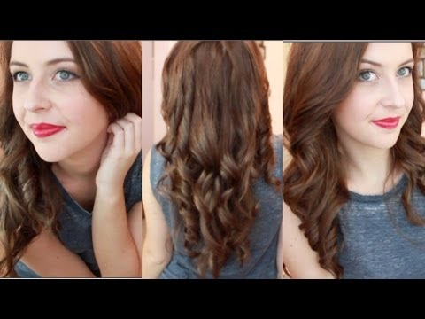 How To Curl Your Hair With A Straightener | spreadinsunshine15