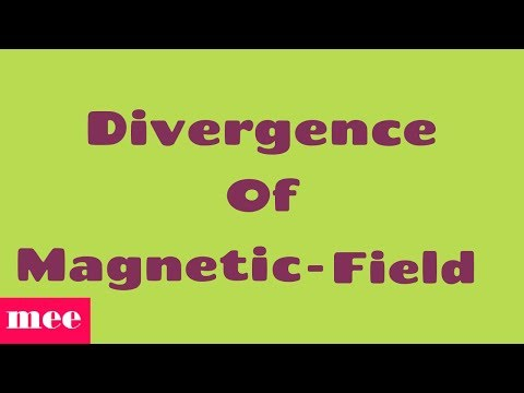 Divergence of magnetic field