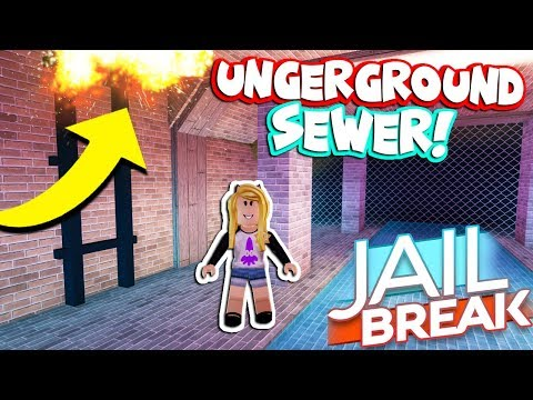 FIRST YOUTUBER TO USE UNDERGROUND SEWERS! *UPDATE* (Roblox Jailbreak)