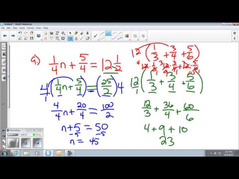 Solving Equations with Rational Numbers