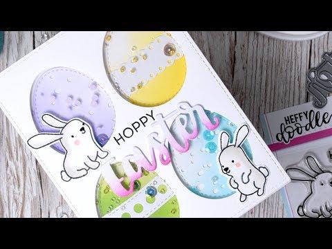 Multi Shaker Easter Card ft Heffy Doodle Honey Bunny Boo