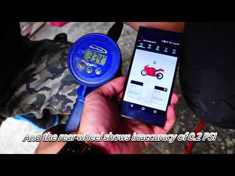 Testing the accuracy of tire pressure