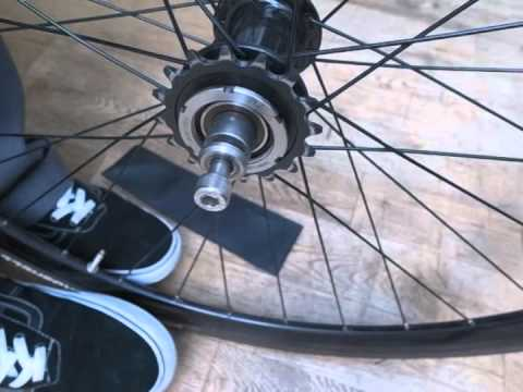 Using a Lockwhip tool to remove a lockring and cog...