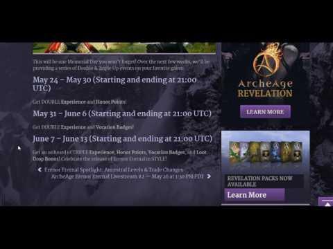 Archeage massive events double and triple bonuses drops exp