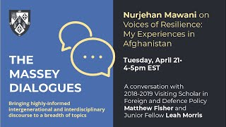 Massey Dialogues: Nurjehan Mawani on Voices of Resilience: My Experiences in Afghanistan