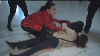 Girl Fight at Courthouse over Boiling Baby