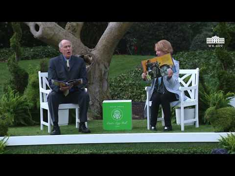 White House Easter Egg Roll: Reading Nook with DNI Dan Coats and Marsha Coats