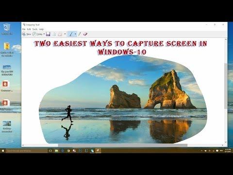 2 ways to take screenshot in Windows-10