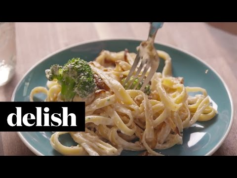 How To Make Low-Fat Fettuccine Alfredo | Delish