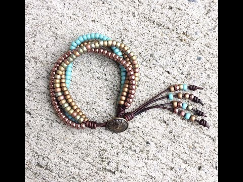4 Strand Beaded Wrap Bracelet