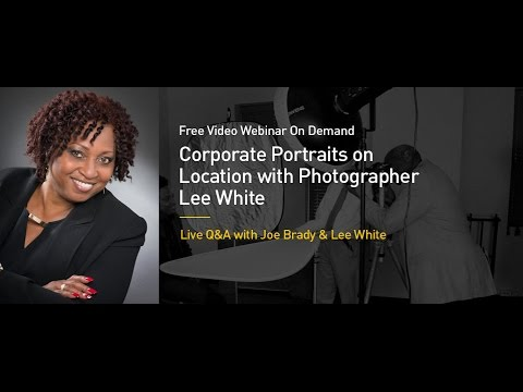 Mastering Corporate Portrait Photography on Location with Lee White