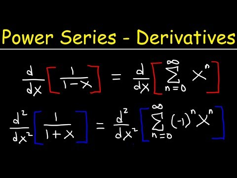 Finding Power Series By Differentiation
