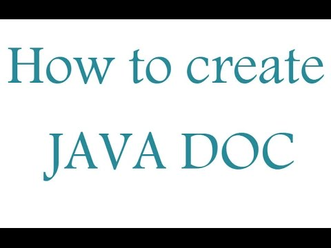 How to generate Javadoc