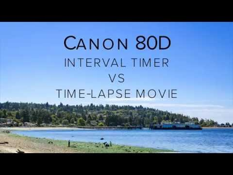 Canon 5D Mark IV & 80D Tips - Interval Timer vs Time Lapse Movie