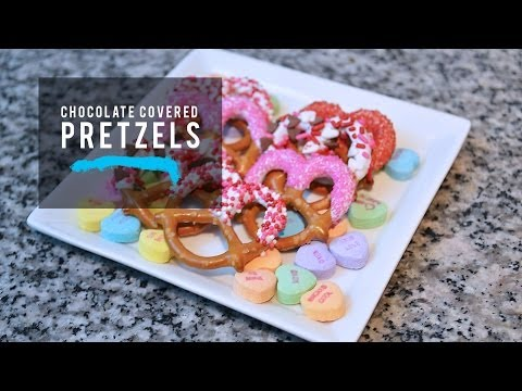 DIY Valentine's Day Treats: Chocolate Covered Pretzels
