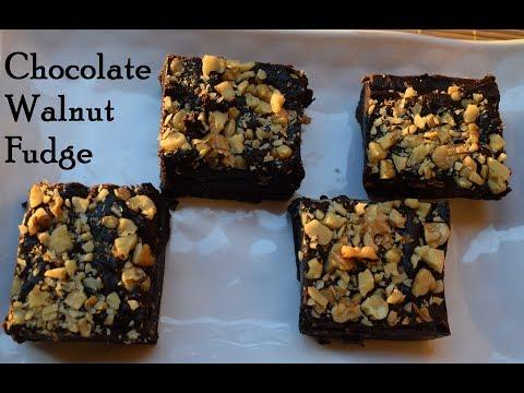 Chocolate Walnut Fudge  Chocolate Barfi  Chocolate Burfi  Walnut Fudge  Chocolate Fudge Walnut Burfi
