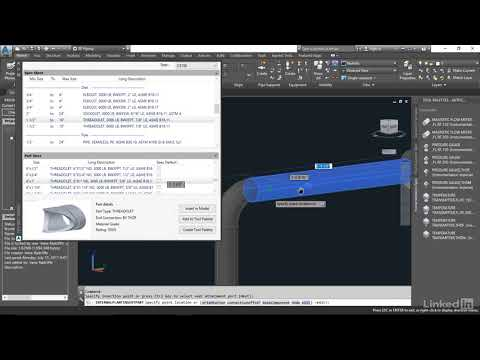 Adding Instrumentation | AutoCAD Plant 3D Essential Training: User from LinkedIn Learning