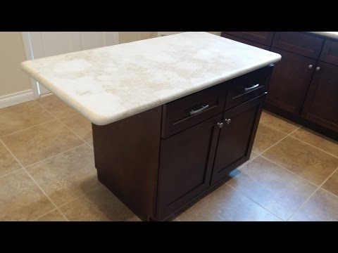 Kitchen Island Installation - QUICK AND EASY - DIY