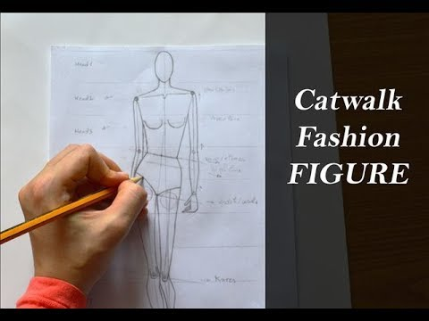 How to draw a Catwalk Fashion Figure easily:The most used by Fashion Designer