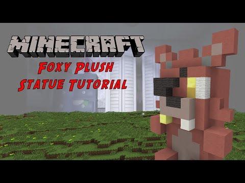 Minecraft Tutorial: Foxy Plush Toy (Five Night's At Freddy's) Statue