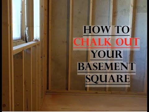Basement Framing - How to Layout Square Lines (Part 3)