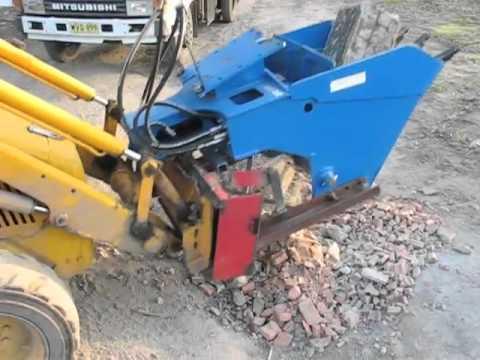 Low cost Bucket Crusher with home built skidsteer adapter
