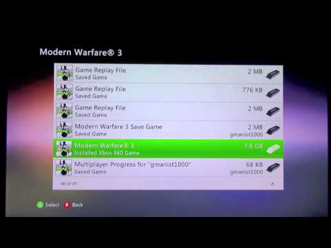 Xbox 360: How to Delete Installed Games