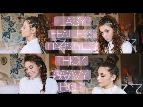 4 Easy Heatless Hairstyles for Thick Wavy/Curly Hair