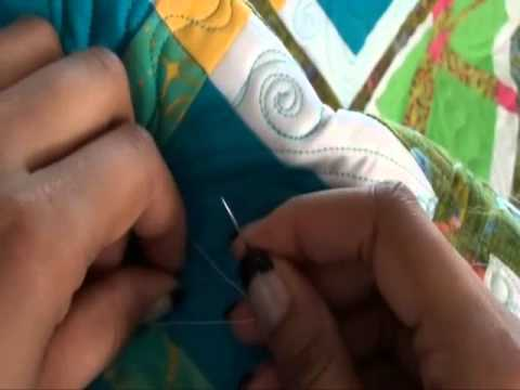 Long Arm Quilting Demo: How to Bury Threads