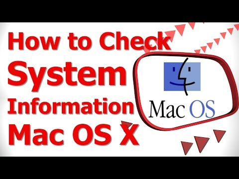 How to Check System Information Mac OS X