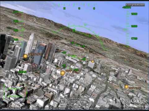 F16 Taking off and Landing Tutorial Google Earth Flight Simulator