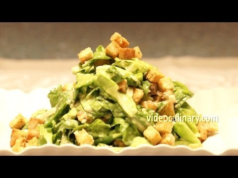 Caesar Salad & Dressing Recipe - Video Culinary