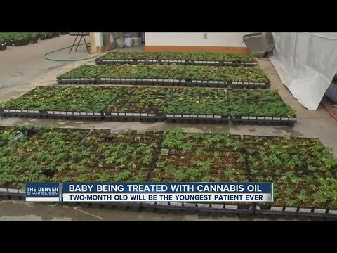 Baby being treated with cannabis oil