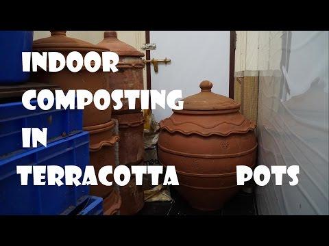 Composting Indoors In Terracotta Pots/Kambha,Mumbai, India