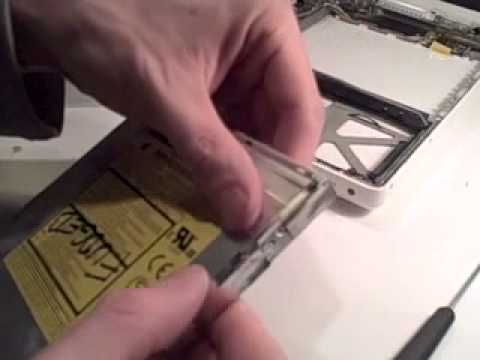 How to replace a MacBook DVD drive