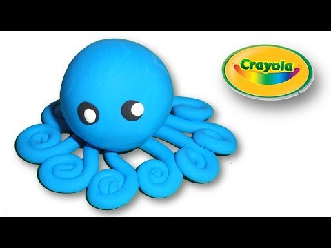Making of Cartoon Octopus from Crayola
